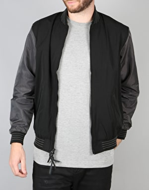 Diamond Supply Co. Black Facet Stadium Jacket - Black
