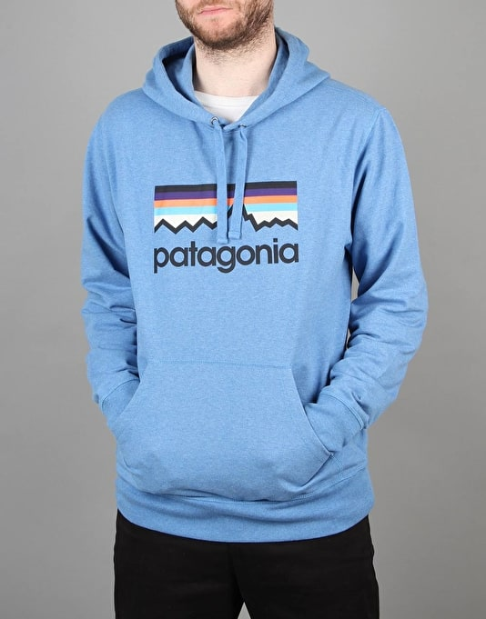 Patagonia Line Logo Middleweight Pullover Hoodie - Andes Blue