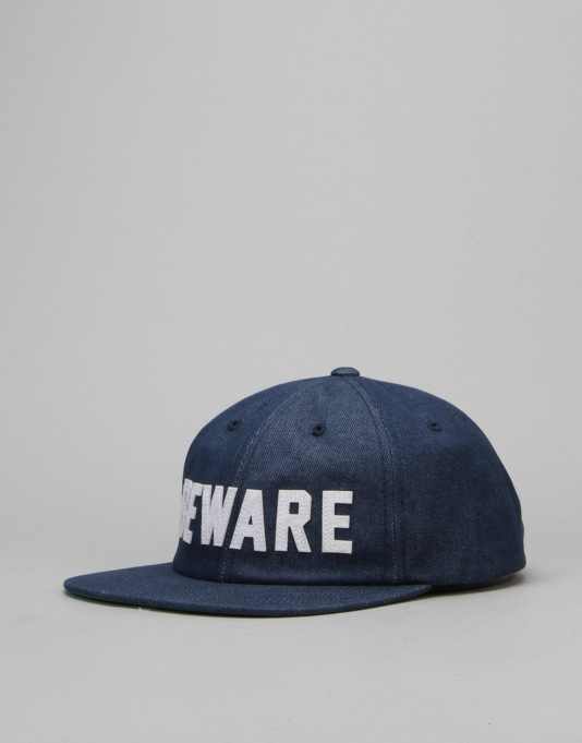 Grizzly Beware Hall Of Fame Unconstructed Strapback Cap - Blue
