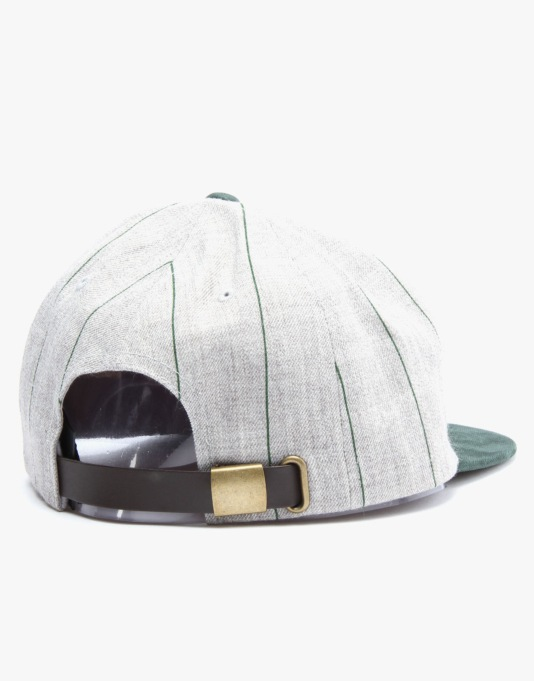 Brixton Hamilton Snapback Cap - Heather Grey/Green