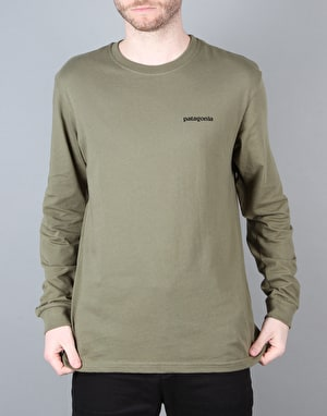 Patagonia L/S Fitz Roy Trout Cotton T-Shirt - Fatigue Green