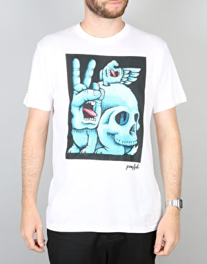 Santa Cruz x Jeremy Fish 30th Anniversary Fish Hand T-Shirt - White