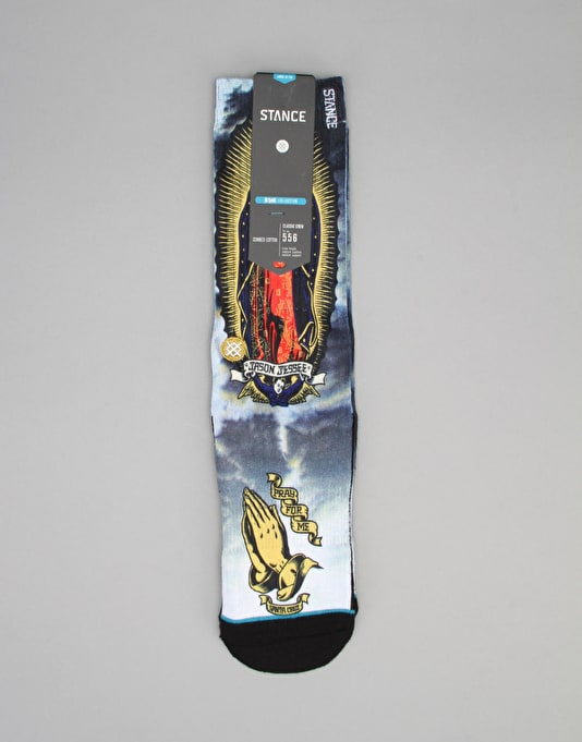 Stance Skate Legends 'Pray For Me Redux' Socks - White
