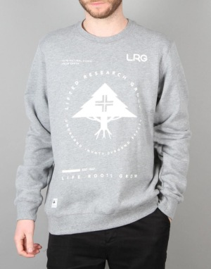 LRG Research Collection Crewneck - Ash Heather