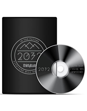 Thirty Two 2032 Limited Edition 2016 Snowboard DVD + Blu Ray