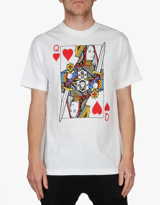Rebel8 Doom Queen Of Hearts T-Shirt - White