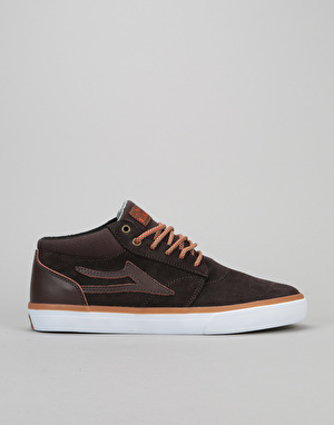 Lakai Griffin Mid AW Skate Shoes - Coffee Oiled Suede