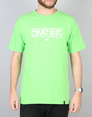 HUF x Skate NYC Address T-Shirt - Lime