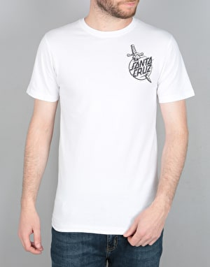 Santa Cruz Dagger T-Shirt - White