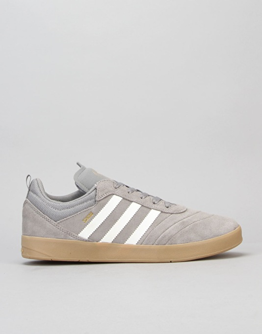 Adidas Suciu ADV Skate Shoes - Solid Grey/White/Gold Metallic