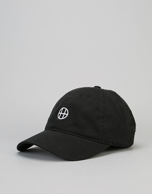 HUF Circle H Curved Brim 6 Panel Cap - Black