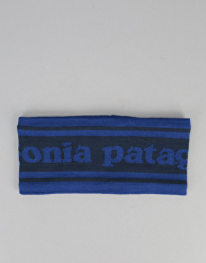Patagonia Lined Knit Headband - Park Stripe Band/Navy Blue
