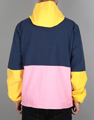 The Quiet Life Solar Cotton Pullover Jacket - Yellow/Navy/Pink