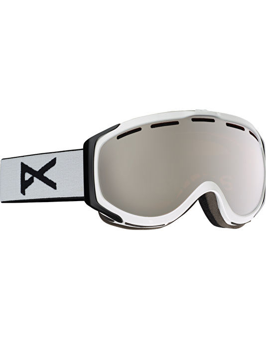 Anon Hawkeye 2017 Snowboard Goggles - White/Silver Amber