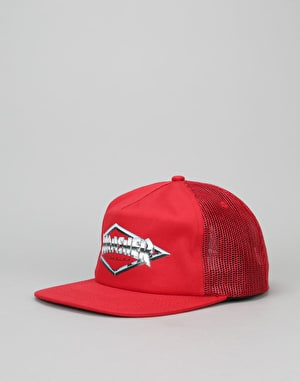 Thrasher Diamond Emblem Trucker Cap - Red