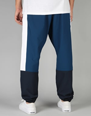 Adidas Blocked Wind Track Pants - Mystery Blue/White