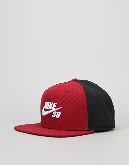 Nike SB Icon Snapback Cap - Team Red/Black/Black/White