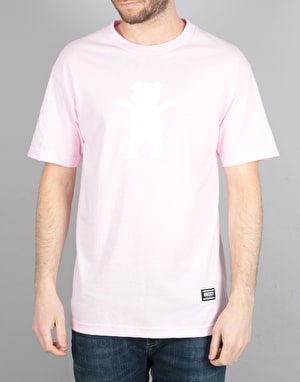 Grizzly OG Bear Logo T-Shirt - Pink