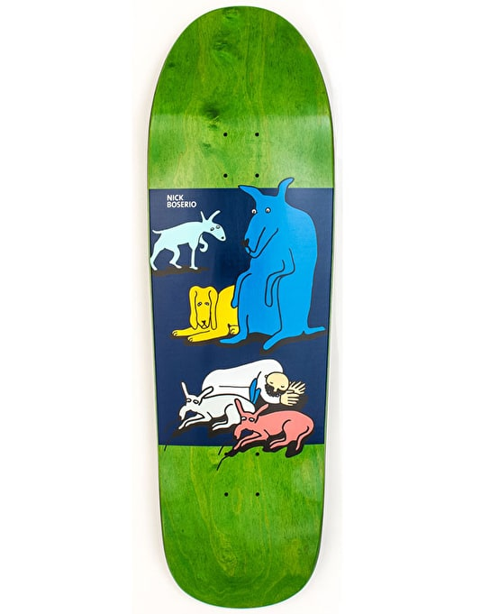 Polar Boserio All My Dogs Skateboard Deck - The Beast Shape 9.75""