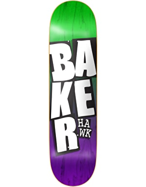 Baker Hawk Stacked Name Pro Deck - 8.125