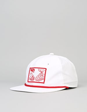 Doom Sayers Snake Shake Unstructured Snapback Cap - White/Red
