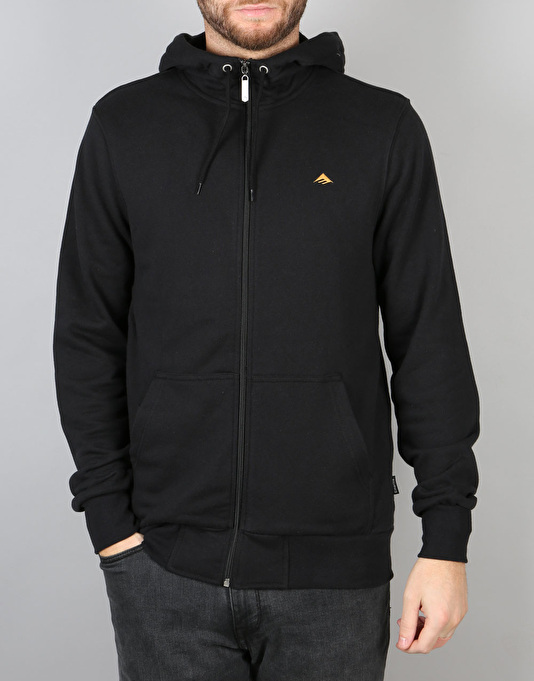Emerica Triangle 2 Zip Hoodie - Black/Gold