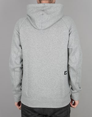 Nike SB GFX Icon Pullover Hoodie - Dk Grey Heather/Prism Pink