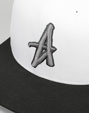 Altamont Decades Snapback Cap - White/Black