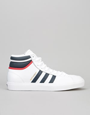 Adidas Matchcourt High RX2 Skate Shoes - Ftwr White/ Collegiate Navy