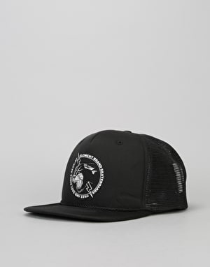 Element Emblem Trucker Cap - All Black