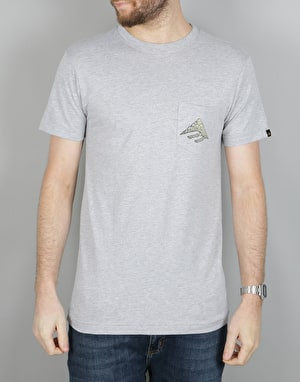 Emerica Awesome Eagle Pocket T-Shirt - Grey/Heather