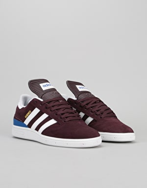 Adidas Busenitz Skate Shoes - Dark Burgundy/White/Collegiate Royal