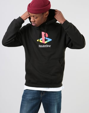 Route One Fony Pullover Hoodie - Black