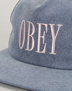 Obey In Bloom Snapback Cap - Navy