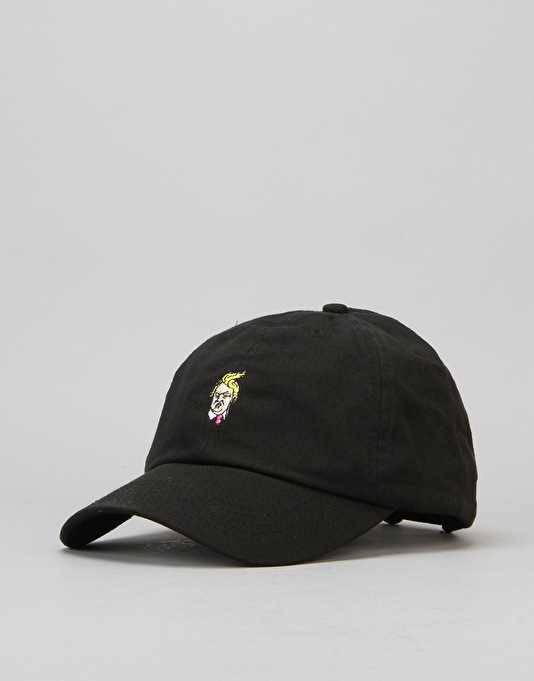 40's & Shorties Comb Over Unstructured Strapback Cap - Black