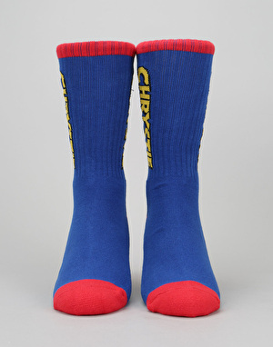 Chrystie OG Logo Socks - Blue