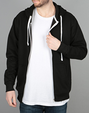 Route One Essentials Zip Hoodie - Black