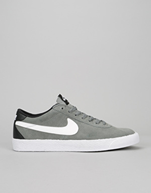 Nike SB Bruin Premium Skate Shoes - Tumbled Grey/White-White-Black