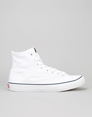 Vans Sk8-Hi Decon Skate Shoes - (Canvas) True White/Dress Blue