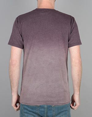 HUF Bar Logo Dipped Heather T-Shirt - Wine