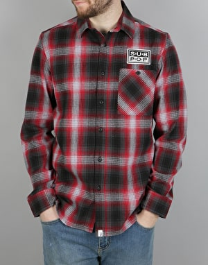 Altamont x Sub Pop LS Flannel Shirt - Red/Black