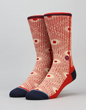 Stance Back Alley Classic Light Socks - Red