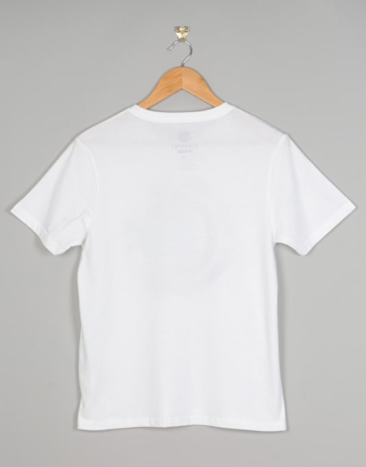 Element Cut Out Icon Boys T-Shirt - Optic White