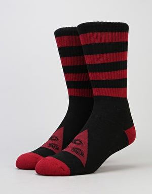 Welcome Triangle Socks - Maroon/Black