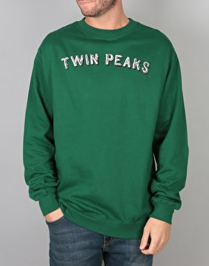 Habitat x Twin Peaks Gazette Crewneck - Forest Green