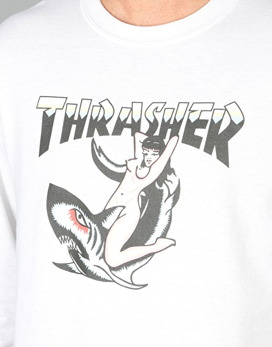 Thrasher Tattoo L/S T-Shirt - White