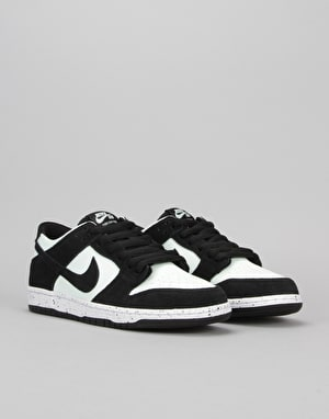 Nike SB Dunk Low Skate Shoes - Black/Black-Barley Green-White