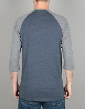 Vans Classic Raglan T-Shirt - Heather Navy/Heather Grey