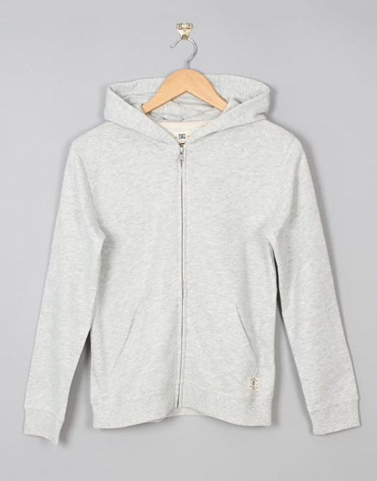 DC Rebel Boys Zip Hoodie - Light Heather Grey