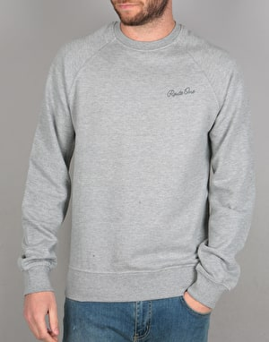 Route One Circle Script Sweatshirt - Heather Grey